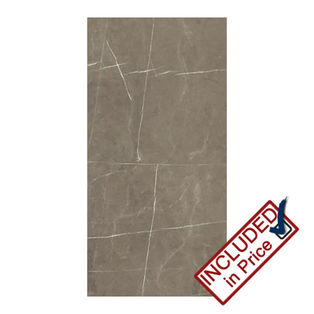 dallas dark brown gloss marble effect wall tile | bathroom